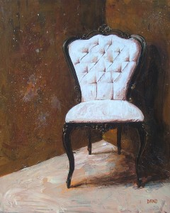 """'Find a Seat #6' - Acrylic painting on canvas (16""""w x 20""""h). Artist: Daniel (Dano) Carver"""